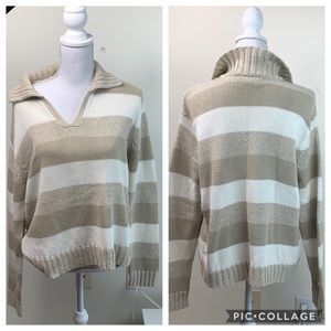 90s Vintage cotton rugby oversized tunic sweater